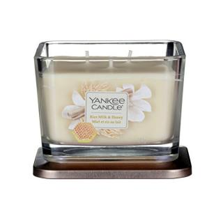Yankee Candle Aromatická sviečka stredná hranatá Rice Milk & Honey 347 g