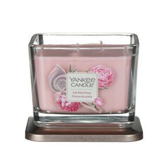 Yankee Candle Aromatická sviečka stredná hranatá Salt Mist Peony 347 g