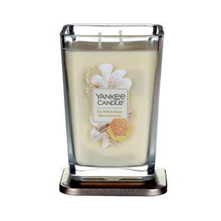 Yankee Candle Aromatická sviečka veľká hranatá Rice Milk & Honey 552 g