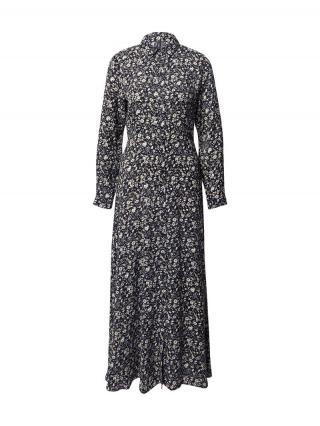 Y.A.S Košeľové šaty Naomi  čierna / zmiešané farby dámské 34