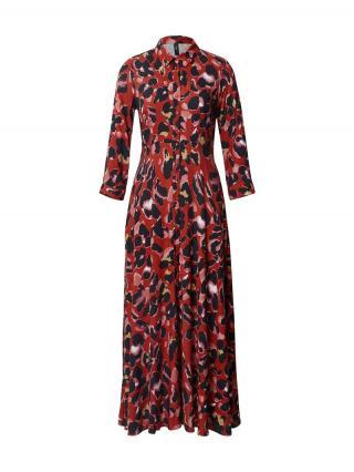 Y.A.S Košeľové šaty Savanna  červená / zmiešané farby dámské 34