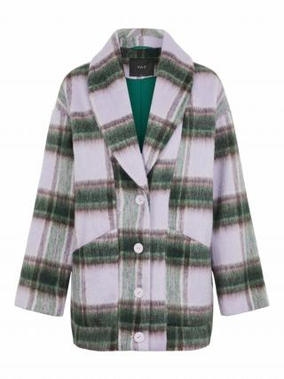 Y.A.S Prechodná bunda HAIA  zelená / baklažánová / levanduľová dámské S
