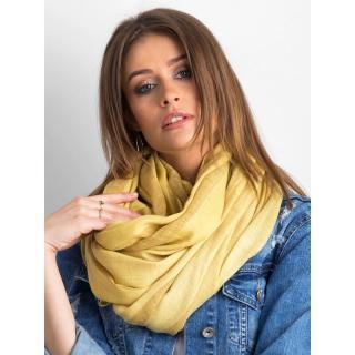 Yellow wide striped scarf dámské Neurčeno One size