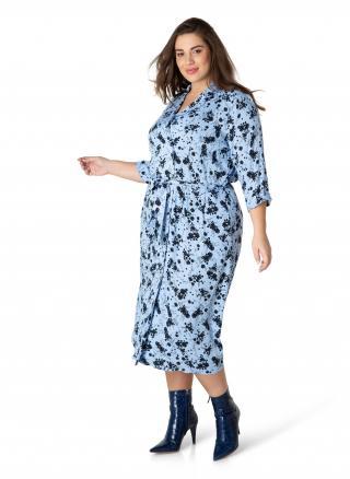 Yesta modré košeľové šaty Hedda - 52 dámské modrá 52