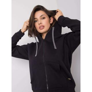 YOU DON´T KNOW ME Black sweatshirt with a zip dámské Neurčeno L
