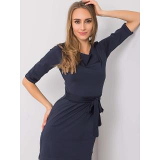 YOU DON´T KNOW ME. Navy blue dress with a tie dámské Neurčeno S