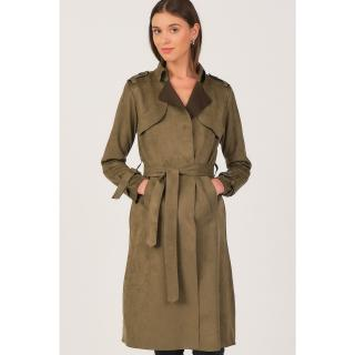 Z6702 DEWBERRY WOMENS SUEDE TRENCH COAT-RIGHT dámské Other L