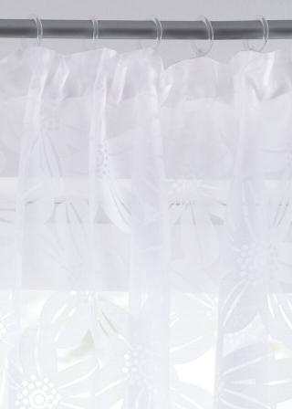 Záclona, vypaľovaná, Listy  biela V/Š: 175/130 cm,V/Š: 225/130 cm,V/Š: 245/130 cm