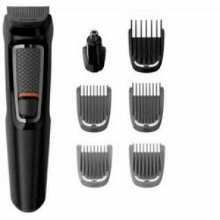 Zastrihávač fúzov, zastrihávač ochlpenia, zastrihávač ušných a nosných chĺpkov, presný zastrihávač, holiaci strojček na tvár Philips Black, omývateľný