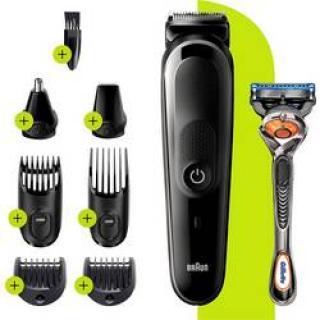 Zastrihávač vlasov, zastrihávač fúzov, holiaci strojček na tvár, zastrihávač ušných a nosných chĺpkov, presný zastrihávač Braun MGK5260, omývateľný, č