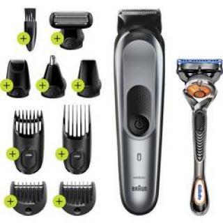 Zastrihávač vlasov, zastrihávač fúzov, holiaci strojček na tvár, zastrihávač ušných a nosných chĺpkov, zastrihávač ochlpenia, presný zastrihávač Braun