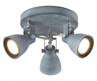 Závesná lampa Ash Sivá & Striebristá