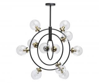 Závěsná lampa Hamburg Černá