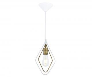Závěsná lampa Marlene White Antique One Bílá