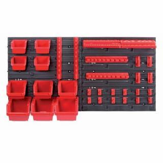 Závesný panel na náradie s 10 boxmi a 22 držiakmi Orderline, 80 x 16,5 x 40 cm