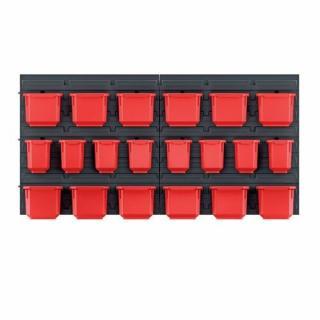 Závesný panel na náradie s 20 boxmi Orderline, 80 x 16,5 x 40 cm