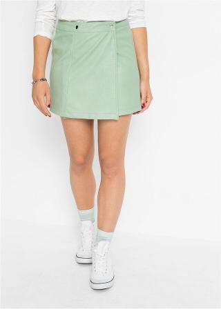 Zavinovacia sukňa v koženom vzhľade dámské zelená 34,36,38,40,42,44,46
