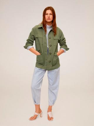 Zelená ľahká bunda s vreckami Mango Margot dámské S