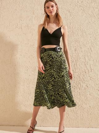 Zelená sukňa so zebrím vzorom Trendyol dámské S