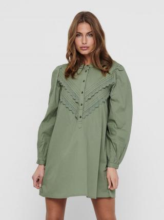 Zelené košeľové šaty Jacqueline de Yong Mumbai dámské zelená XS