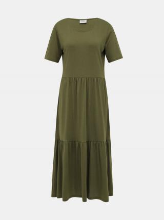 Zelené maxišaty Jacqueline de Yong Dalila dámské zelená XS