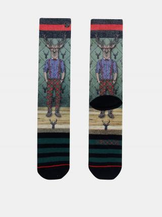 Zelené pánske ponožky XPOOOS pánské zelená 39-42
