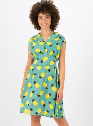 Zelené vzorované šaty Blutsgeschwister - XL dámské zelená XL