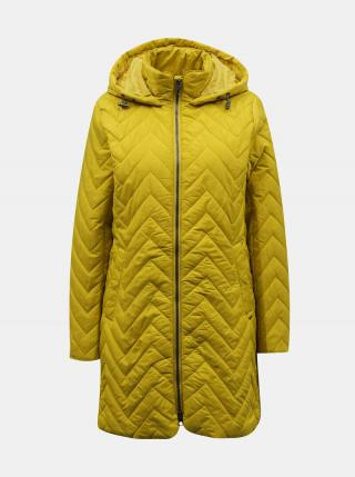 Zelenožltý dámsky prešívaný kabát ZOOT Baseline Molly dámské žltá L