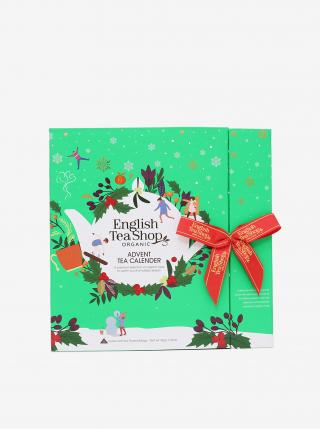 Zelený adventný čajový kalendár BIO English Tea Shop zelená