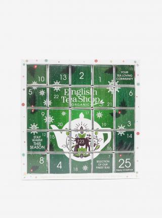 Zelený adventný čajový kalendár English Tea Shop zelená