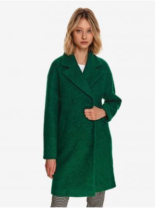 Zelený dámsky vlnený kabát TOP SECRET dámské zelená XS