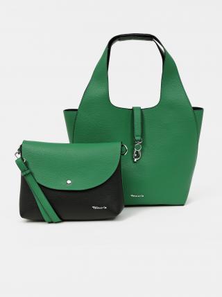 Zelený obojstranný shopper s odnímateľným púzdrom Tamaris dámské zelená