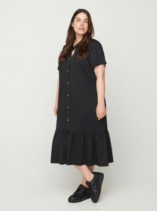 Zizzi čierne košeľové šaty - XL-XXL dámské čierna XL-XXL