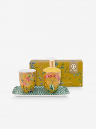 Žltá darčeková sada do kúpeľne PiP studio Petites Fleurs