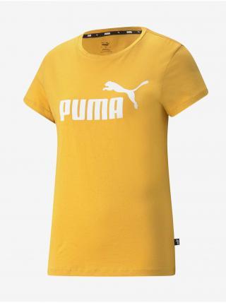 Žlté dámske tričko Puma Ess Logo Tee dámské žltá L