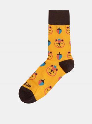 Žlté dámske vzorované ponožky Fusakle Brum dámské žltá 43-46