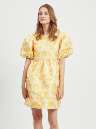 Žlté kvetované balónové šaty VILA Marito dámské žltá L
