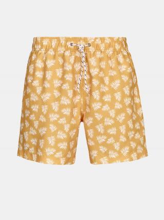 Žlté pánske vzorované plavky killtec Paloro pánské žltá XL