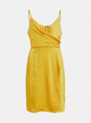 Žlté šaty VILA dámské žltá XXL