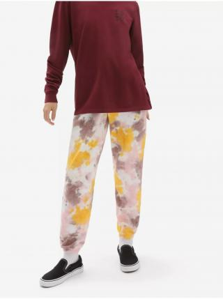 Žlto-ružové dámske batikované tepláky VANS Grunge dámské ružová XL