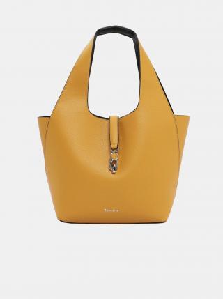 Žltý obojstranný shopper s odnímateľným púzdrom Tamaris dámské žltá
