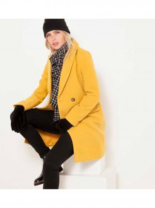 Žltý zimný kabát CAMAIEU dámské žltá XXL